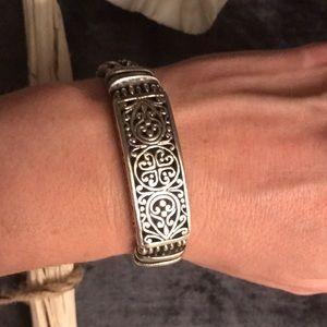 Heavy sterling silver Balinese bracelet, gorgeous!
